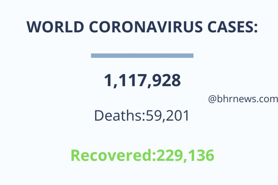 कोरोना वायरस से 55 हजार से अधिक मरे, लगभग एक करोड़ से अधिक संक्रमित